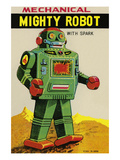 Mechanical Mighty Robot Premium Giclee Print