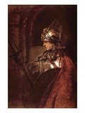 Man with Arms (Alexander the Great) Kunstdruck von Rembrandt van Rijn