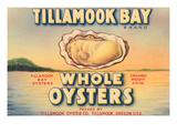 Tillamook Bay Whole Oysters Giclee-tryk i høj kvalitet