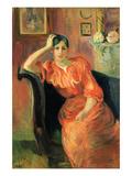Berthe Morisot - Portrait of Jeanne Pontillon - Sanat