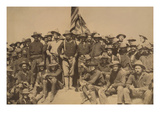 Colonel Roosevelt and His Rough Riders at Top of the Hill Which They Captured, Battle of San Juan Print