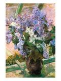 Flowers in the Window Poster von Mary Cassatt