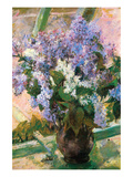 Flowers in the Window Print by Mary Cassatt