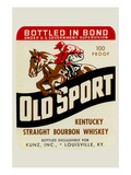 Old Sport Kentucky Straight Bourbon Whiskey Prints