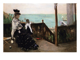 In a Villa on the Beach Premium Giclee Print by Berthe Morisot
