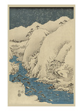 Mountains and Rivers on the Kiso Road (Kisoji No Sansen) No.1 Print by Ando Hiroshige