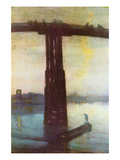 Old Battersea Bridge Premium Giclee Print by James Abbott McNeill Whistler