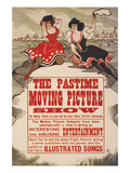 The Pastime Moving Picture Show Art by  Edison