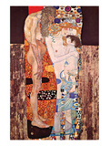 The Three Ages of a Woman Prints by Gustav Klimt