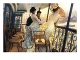The Gallery of the H.M.S. Calcutta Premium Giclee Print by James Tissot