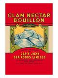 Cap'N John Brand Clam Nectar Bouillon Art