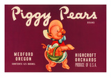 Piggy Pears Crate Label Posters