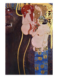 The Beethoven Frieze Prints by Gustav Klimt