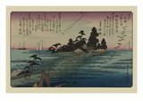 Descending Geese at Haneda Poster by Ando Hiroshige