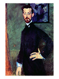 Portrait of Paul Alexander's before a Green Background Art by Amedeo Modigliani