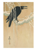 Blackbird in Snow Affiches par Koson Ikeda