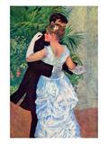 The Dance in the City Art by Pierre-Auguste Renoir