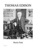 Thomas Edison - Menlo Park Art Print