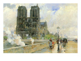 Cathedral of Notre Dame, 1888 Poster by Frederick Childe Hassam