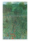 Garden Landscape Print by Gustav Klimt