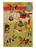 Big French Circus on the Grounds of Shokonsha (Yasukuni) Shrine No.1 Art by Utagawa Hiroshige