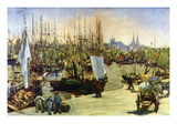 Port of Bordeaux Premium Giclee Print by Édouard Manet