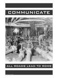 Communicate Affiches par Wilbur Pierce