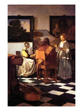 Musical Trio Prints by Johannes Vermeer