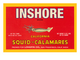 Inshore Brand Squid - Calamares Posters af Paris Pierce