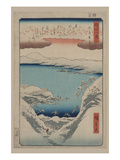Evening Snow at Hira (Hira No Bosetsu) Poster by Ando Hiroshige