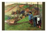 Breton Shepherd Art by Paul Gauguin