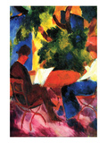 Couple at the Garden Table Art by Auguste Macke
