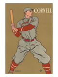 Cornell Baseball Prints by Edward Penfield