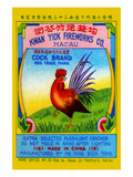Cock Brand Firecrackers Posters