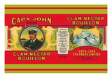 Cap'N John Brand Clam Nectar Bouillon Prints
