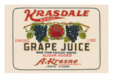 Kransdale Brand Grape Juice Poster