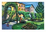 Garden Image Kunstdrucke von Auguste Macke