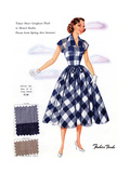 Tissue Sheer Gingham Plaid in Muted Shades Art by  Fashion Frocks