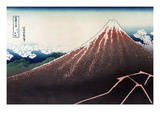 Rainstorm Beneath the Summit Premium Giclee Print by Katsushika Hokusai