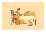 A Slice of Pie and a Hungry Kitten Posters by Kate Greenaway