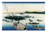 Tsukada Island in Musashi Province Premium Giclee Print by Katsushika Hokusai