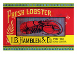 Fresh Lobster Premium Giclee Print by  Sun Lithograph Co
