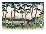 Hodogaya on the Tokaido Road Kunstdrucke von Katsushika Hokusai