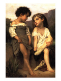 At the Edge of the Brook Prints by William Adolphe Bouguereau