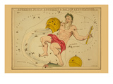 Aquarius, Piscis Australis and Ballon Aerostatique Print by Aspin Jehosaphat