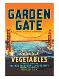 Garden Gate Selected Vegetables Premium Giclee Print