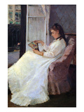 The Sister of the Artist at a Window Posters by Berthe Morisot
