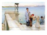 A Kiss Prints by Sir Lawrence Alma-Tadema