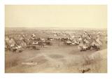 Native American Encampment - Lakota Indians Premium Giclee Print by John C.H. Grabill