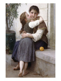 A Little Coaxing Posters by William Adolphe Bouguereau